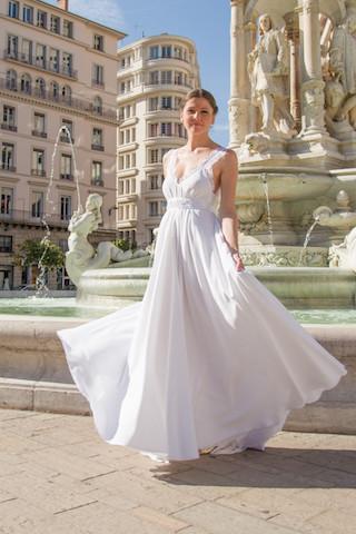 LUDIVINE GUILLOT , mariage, robe de mariée