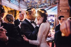 les photophores, mariage, mariage en hiver