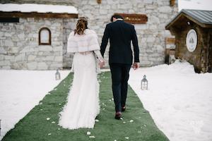 les photophores, annuaire mariage, site mariage, mariage à la neige, mariage hiver