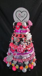 gâteau de bonbons, pluie de bonbons