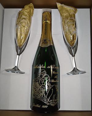 mariage et savoir faire - gravure sur verre - champagne gravure