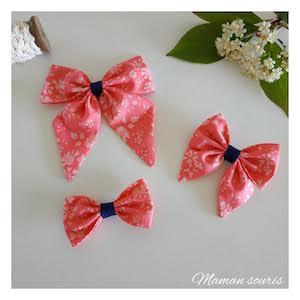 noeud papillon made in france - fait main - noeud cheveu pour petite fille cérémonie